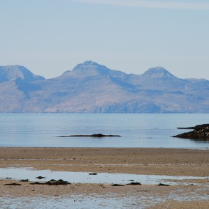 Rum from Morar. The major layered units on Allival and Askival are clearly visible