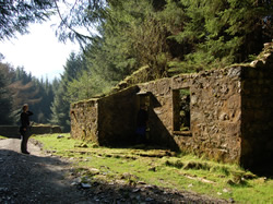 Ruins of old buildings dot the landscape